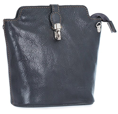 Big Handbag Shop, Borsa a tracolla donna One Grigio (Dark Grey)