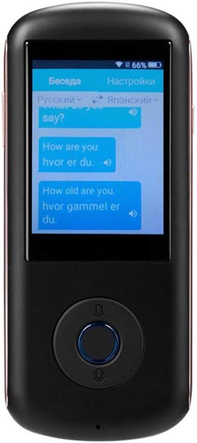 35の言語翻訳のリアルタイムインスタントスマート音声翻訳同時通訳4G WIFIグローバルオンラインを使用するためのシンプルな 言語翻訳装置 (Color : Black, Size : 134x13.5x57.5mm)