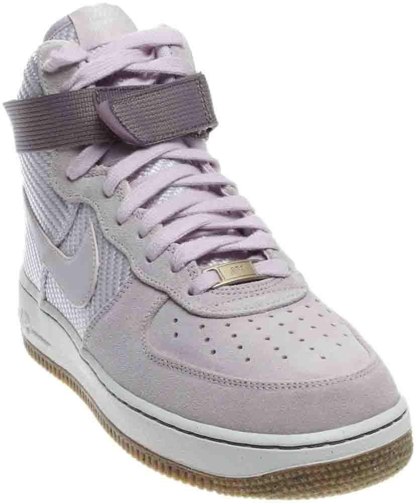Nike Women's Air Force 1 Hi Prm Bleached Lilac/Bleached Lilac Basketball Shoe 7.5 Women US