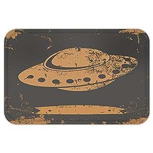 kisscase Custom puerta matmodern Grunge estilizados UFO figura Alien espacio ultraterrestre Cosmic Galaxy futurista gráfico gris luz marrón