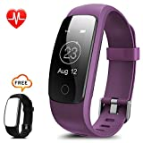 Fitness Tracker Watch ZoiyTop Heart Rate Monitor IP67 Waterproof Activity Tracker GPS Wristband for Android Sports Step Track Counter Pedometer