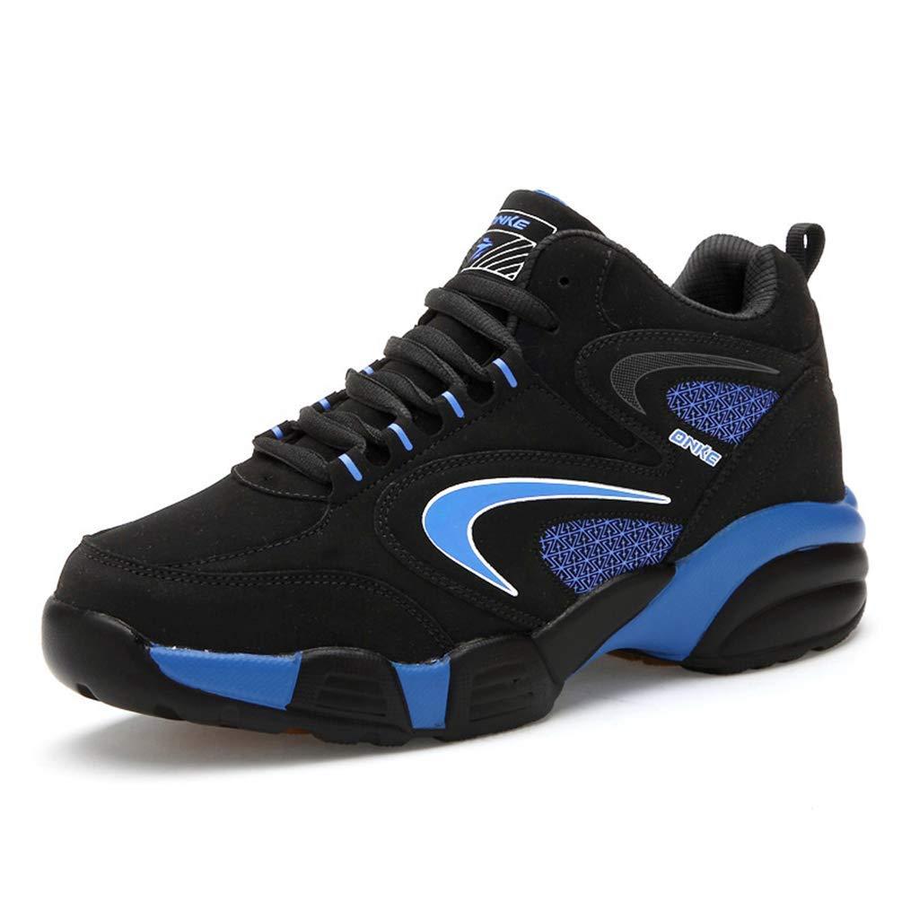 ZHRUI Männer und Frauen Winter Thermal Sport Schuhe Winter Schwarz Pelz Sport (Farbe   Blau Fur, Größe   9=43 EU)
