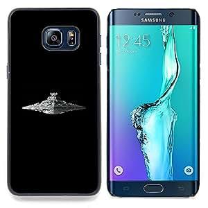 - Star Destroyer - - Cubierta del caso de impacto con el patr??n Art Designs FOR Samsung Galaxy S6 Edge Plus Queen Pattern
