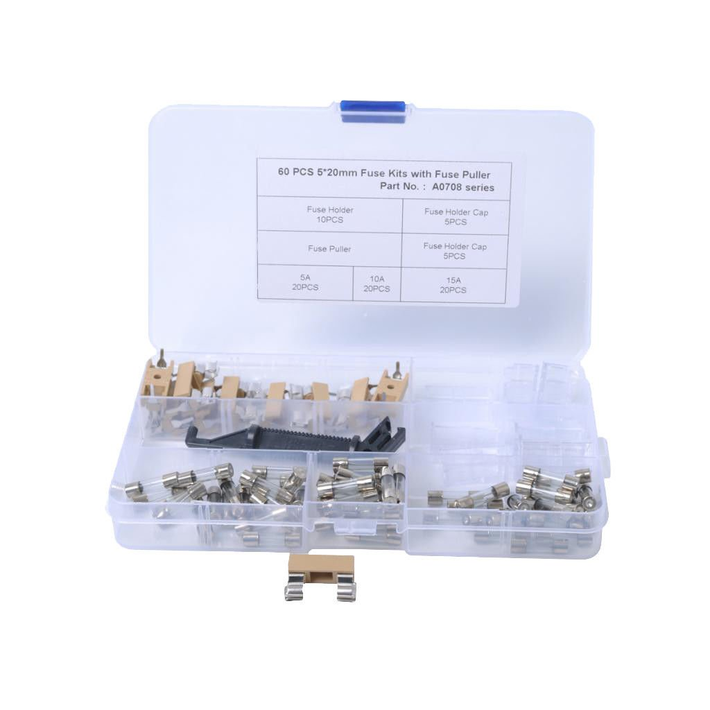 Buy Slb Works 60x M5x20 5a 10a 15a Car Glass Tube Fuse 10pcs Pcb Carrier Box Fuses Holder Online At Low Prices In India