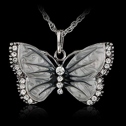 Kaputar Animal Butterfly Crystal Silver Pendant Necklace Sweater Chain Women Jewelry New | Model NCKLCS - 19203 |