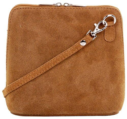 Primo Sacchi cuir Suede italien petit/micro sac de carrosserie ou sac à bandoulière sacs à main. Comprend un sac de rangement de marque Donc