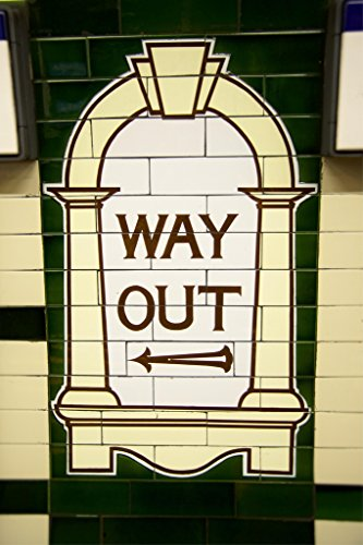 Way Out London Underground Sign Poster 12x18 inch (Best London Underground Stations)
