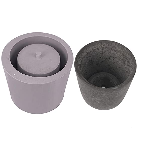 Amazon.com : Topaty Round Cement Flower Pot Silicone Mold Home Decoration Crafts Succulent Plants Concrete Planter vase Molds for Garden Indoor Outdoor ...