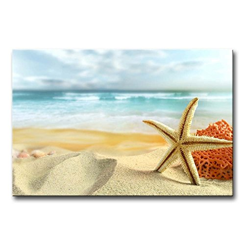 SmartWallArt-Animal-Paintings-Wall-Art-Starfish-and-Coral-in-the-Beach-Picture-Print-on-Canvas-for-Modern-Home-Decoration