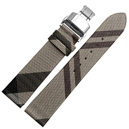 Choco&Man US Genuine Leather Watch Band Strap with Tool Fit for Men's Burberry Watches