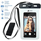 ipod classic arm strap - Voxkin PREMIUM QUALITY Universal Waterproof Case including ARMBAND ✚ COMPASS ✚ LANYARD - Best Water Proof, Dustproof, Snowproof Bag for iPhone 6S, 6, 6 Plus, 5, Galaxy S6 S5 Note 4 or Any Phone