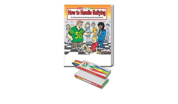 Coloring Book And Crayons In Bulk : Amazon.com: how to handle bullying kids coloring book and crayon