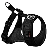 Gooby - Freedom Harness II, Choke Free Mesh Harness for Small Dogs with Microsuede Straps, Blue, Large