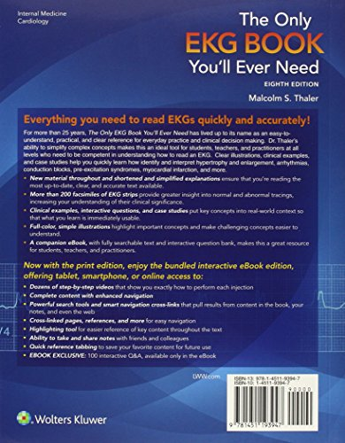 The Only EKG Book You'll Ever Need (Thaler, Only EKG Book You'll Ever Need)