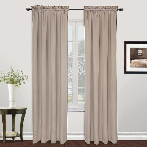 United Curtain Metro Woven Window Curtain Panel, 54 by 72-Inch, Natural