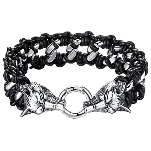 Stainless Leather Tribal Bracelet ccb008 product image