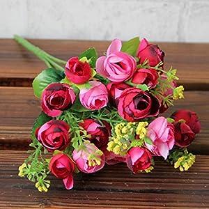 TiTCool Pretty Artificial Flowers, Pastoral Style Artificial Flower Artificial Bouquet Flowers Home Decoration Wedding Decorative Flowers 97
