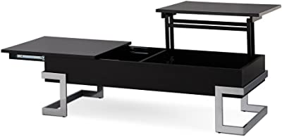 Major Q Convertible Lift Top And Sliding Top Coffee Table In Gloss Black (MQ
