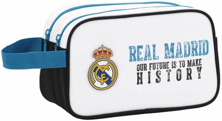 Real Madrid - Neceser 2 Cremalleras Adaptable a Carro (SAFTA 811754518): Amazon.es: Juguetes y juegos