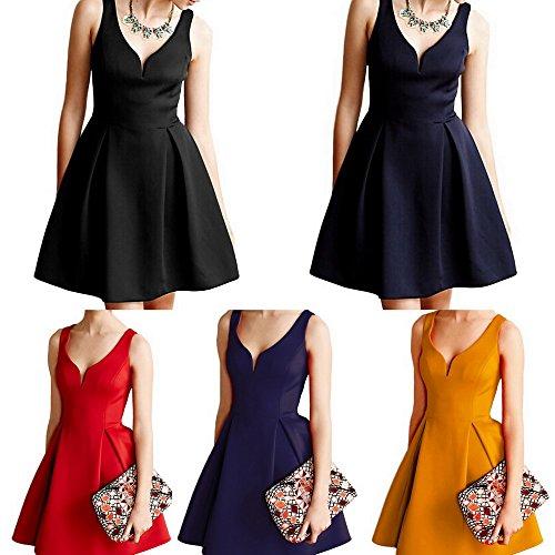 V Xiang Party Ru Dresses Black Evening Womens Bubble Vintage Deep Shirt Dress qI64fIOwF
