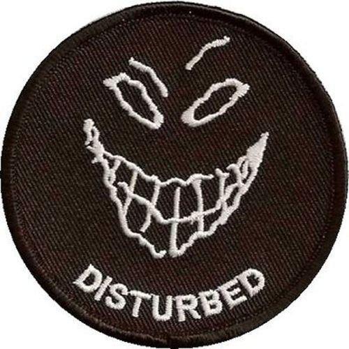 DISTURBED Embroidered Quality Biker Leather Vest Patch! heygidday