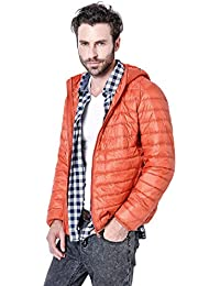 Men's Winter Lightweight Packable Quilted Hooded Down Coat Puffer Jacket