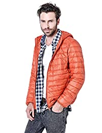 Gihuo Men's Winter Lightweight Packable Quilted Hooded Down Puffer Jacket