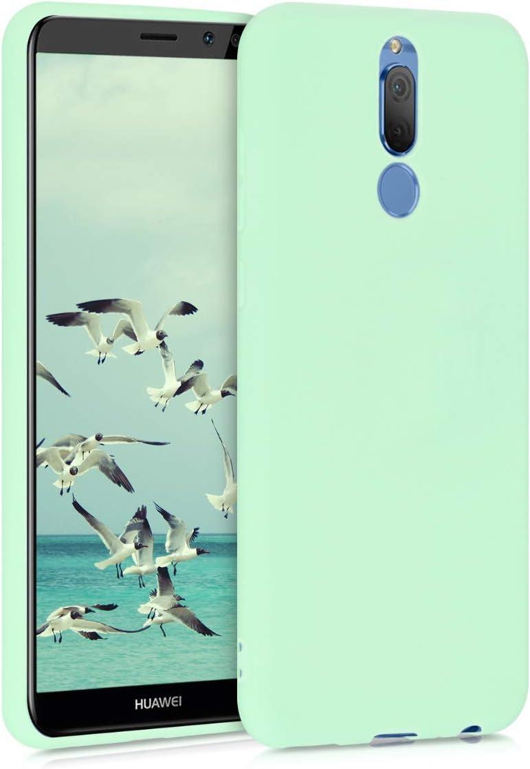 Protector Trasero en Azul Claro Mate Carcasa de TPU Silicona kwmobile Funda Compatible con Huawei Mate 10 Lite