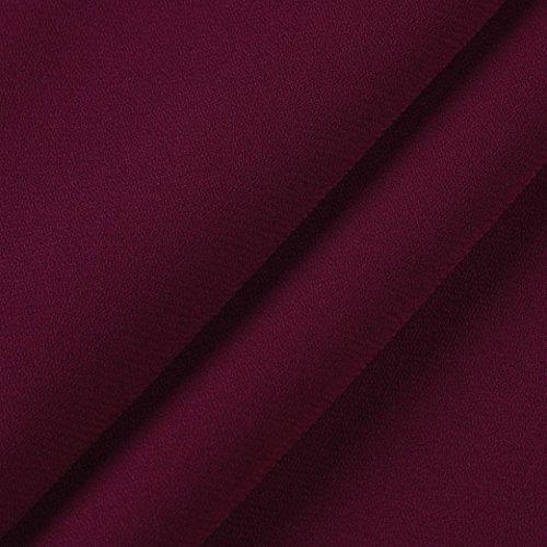 Casual Mousseline Blouse Chemises Col Couleur Pure Vêtements Vin Du En Mode Femmes Chic Lâche Adeshop Longues Haut À V Automne Slim Manches Tops Blouses Élégant n4aBWq68x