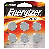 Energizer 3 Volt Watch Batteries, Lithium 3v CR2032 Battery (6 Count) 2032BP-6