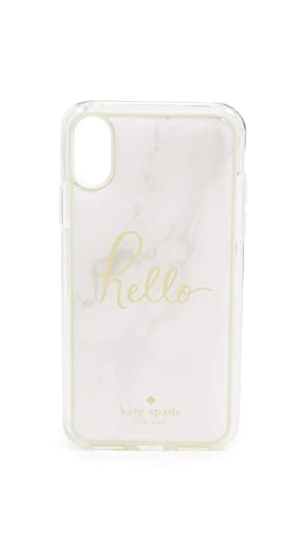59f14481cd Amazon.com: Kate Spade New York Marble Hands Free iPhone X/XS Case, Multi,  One Size: Cell Phones & Accessories