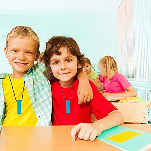 autistische Kinder 5er-Pack Silikon-Kauanh/änger f/ür Training und Entwicklung Spielzeug-Kaukette f/ür Babys mit Kinderkrankheiten Autismus-ADHS-SPD Sensory Chew Halskette Mundmotor Angstzust/ände
