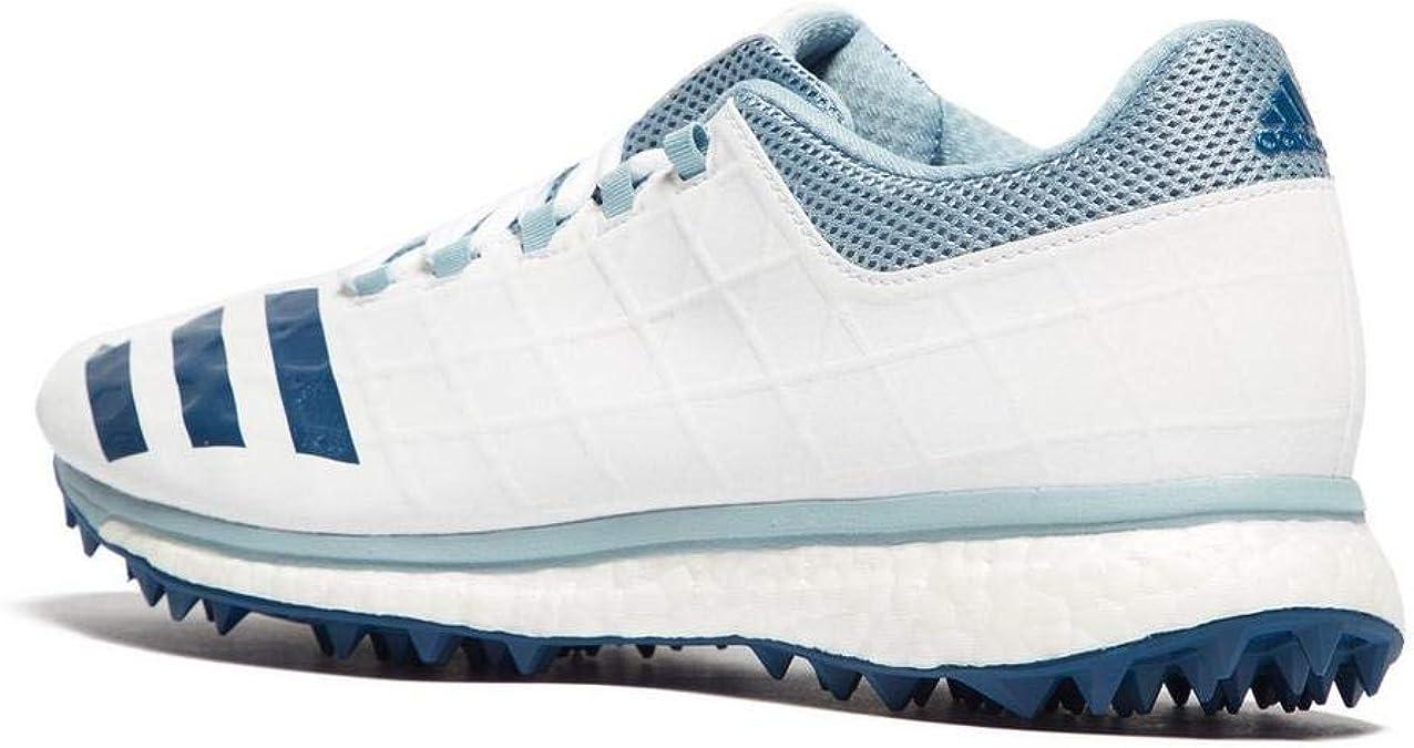 adidas Adizero SL22 Boost Mens Adult Cricket Trainer Spike Shoe WhiteBlue