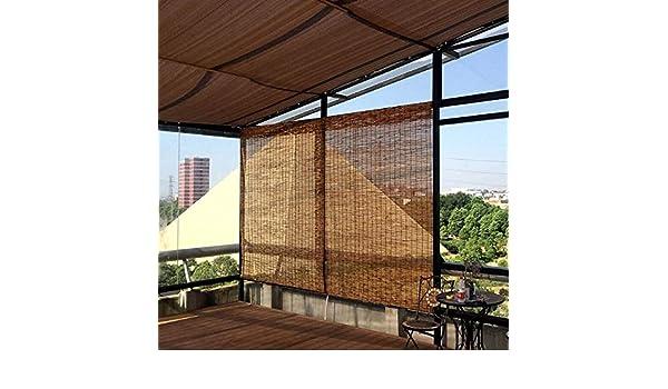Reed blinds Persianas enrollables de bambú Natural, Hechas de caña ...