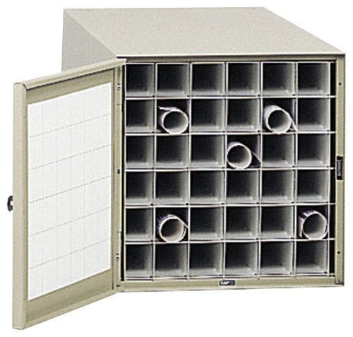 (Safco Products 4962 Steel Roll File Horizontal Storage Cabinet, 36 Tube, Tropic)