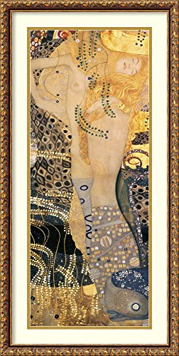 (Framed Art Print 'Water Serpents I, 1904-07' by Gustav Klimt)