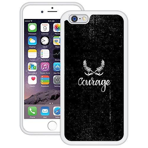 Mut | Handgefertigt | iPhone 6 6s (4,7') | Weiß TPU Hülle