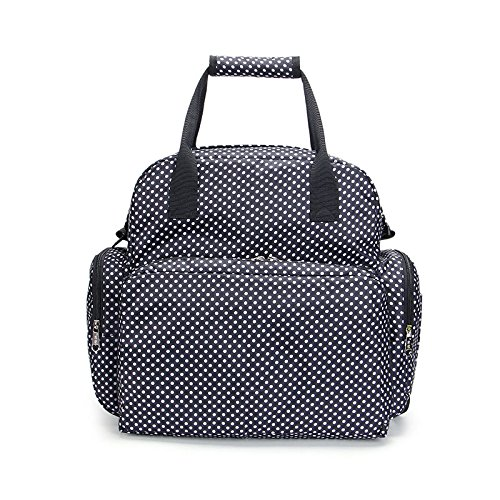 Electomania Waterproof Diaper Bag Travel Bag Multifunctional Mother Bag Baby Bag (Black)