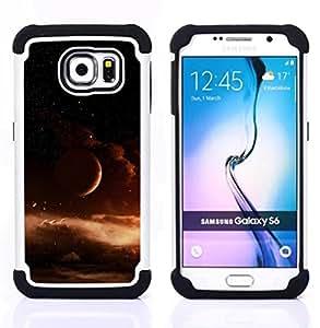 """Pulsar ( Espacio Universo Gas Nube Marrón"""" ) Samsung Galaxy S6 / SM-G920 SM-G920 híbrida Heavy Duty Impact pesado deber de protección a los choques caso Carcasa de parachoques"""