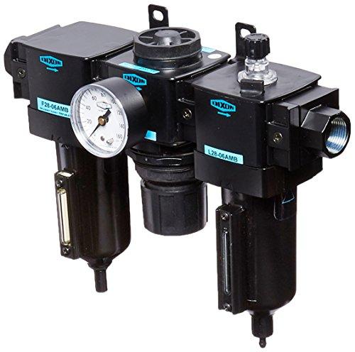 Dixon C28-06AMB Automatic Drain Wilkerson Standard Combination Unit with Metal Bowl and Sight Glass, 3/4'' Size, 175 SCFM Flow, 250 psig Pressure by Dixon Valve & Coupling