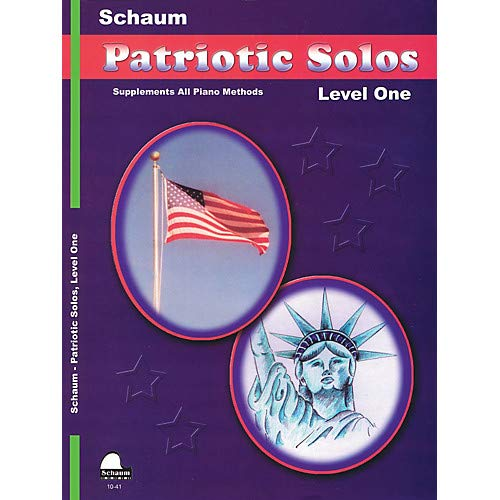 Patriotic Solos (Level 1 Elem Level) Educational Piano Book- Pack of 3