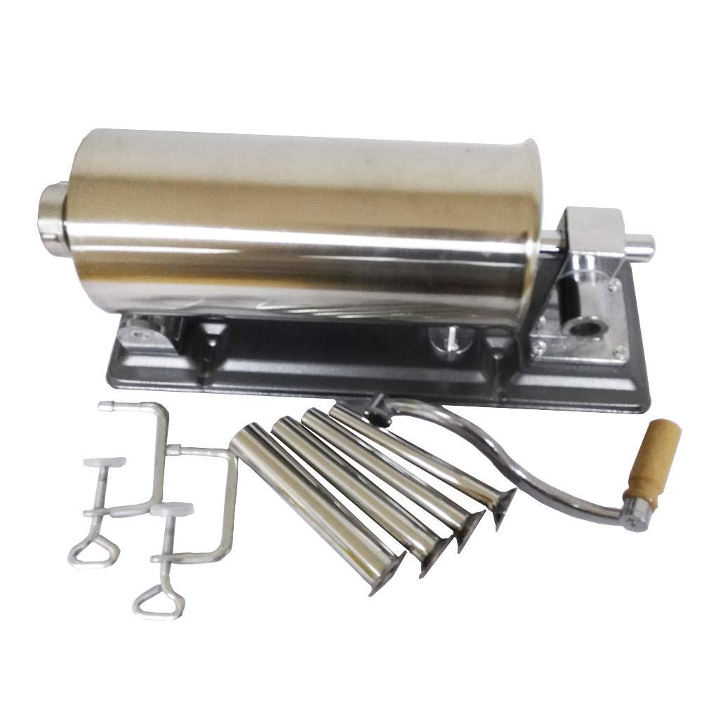 4L Horizontal Sausage Stuffer Filler Stainless Steel Homemade Table Sausage Maker Kitchen Tool Meat Processor Sausage Maker