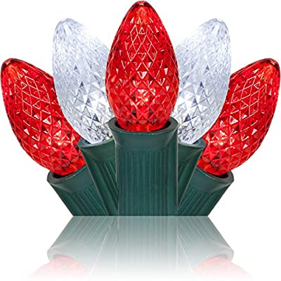 C7 Red / Cool White Commercial LED Christmas Lights