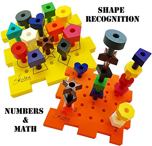 Shape Sorter Activity Cube Peg Board Set Busy Box – 7 Toys in 1. Baby Sorting Block for Toddler Toys Girls & Boys. 31pc Skoolzy Pegboard Shapes Colors Stacking Fine Motor Developmental Puzzle Mat Game
