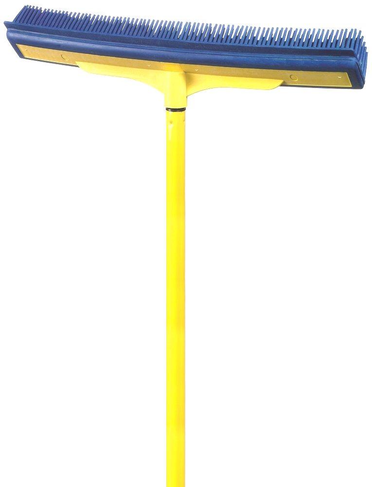 Smart Broom 1600YS 16'' Multi-Purpose Squeegee Broom Smart Broom 16in Multi-Purpose Squeegee Broom with Telescoping Handle in Blue/Yellow, ( Pack of 1)