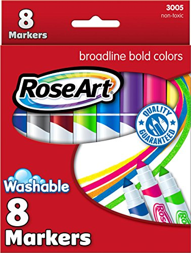 RoseArt Bold Washable Broadline Markers 8-Count Packaging May Vary (3005VA-24)