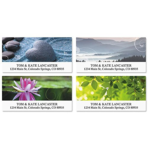 Peace Deluxe Self-Adhesive, Flat-Sheet Address Labels (4 Designs)