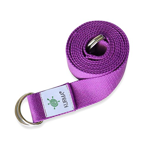 Yoga Belt Strap and Yoga Mat Carrying Sling in one, Cotton, Excellent Grip, Soft, For Stretching and Carrying Yoga Mat (Fuchsia)