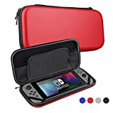 Nintendo Switch Case Protective Hard Shell Carrying Case Storage Bag for Nintendo Switch Console (Model #1, Red)