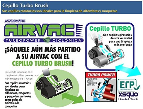 ACCESORIO CEPILLO TURBO BRUSH PARA ASPIROMATIC / AIRVAC: Amazon.es: Hogar